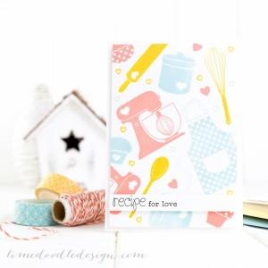 Recipe for Love Card by Debby Hughes