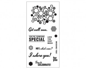Fiskars Hexagon Sentiments Stamp Set