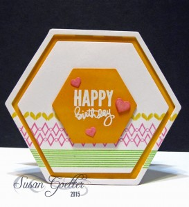 Happy Birthday Hexagon by Susan Goetter