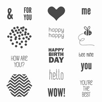 Honeycomb Hello Stamps by Stampin' Up!