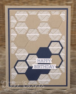 Masculine Hexagon Happy Birthday by Diane Barnes