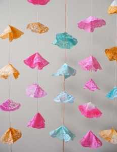paper doilies bunting
