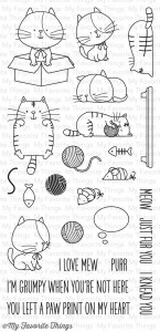 kitties stamp
