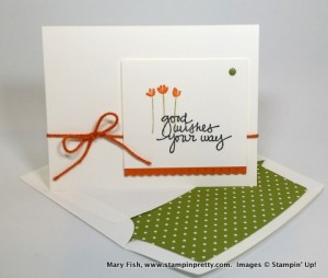 Good Wishes and Matching Envelope by Mary Fish