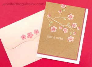 Just a Note and Matching Envelope by Jennifer McGuire