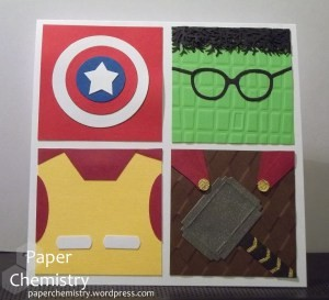 Avengers Birthday Card by Laurie Davenport