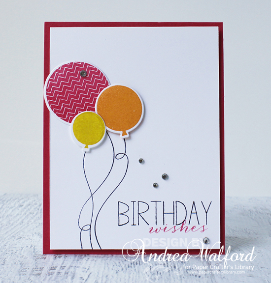 Birthday Wishes Card Video Tutorial by Andrea Walford