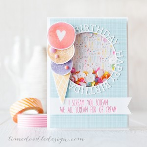 Happy Birthday Ice Cream by Debby Hughes