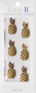 Little B Dimensional Pineapple Stickers