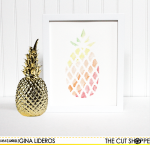 Prickly Pineapple Art by Gina Lideros
