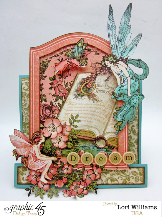 Lori Williams Designing for Graphic 45 Once Upon a Springtime Folding Card photo 2